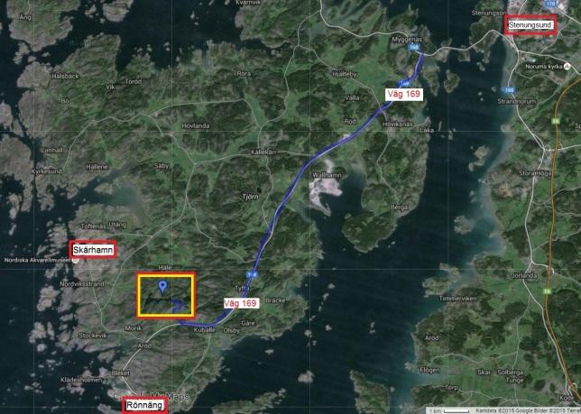 Tibbeträff - Friluftsfrämjandet, Tjörn, Bö Tjärn och Tolleby Tjärn - Översiktsbild - Karta 1
